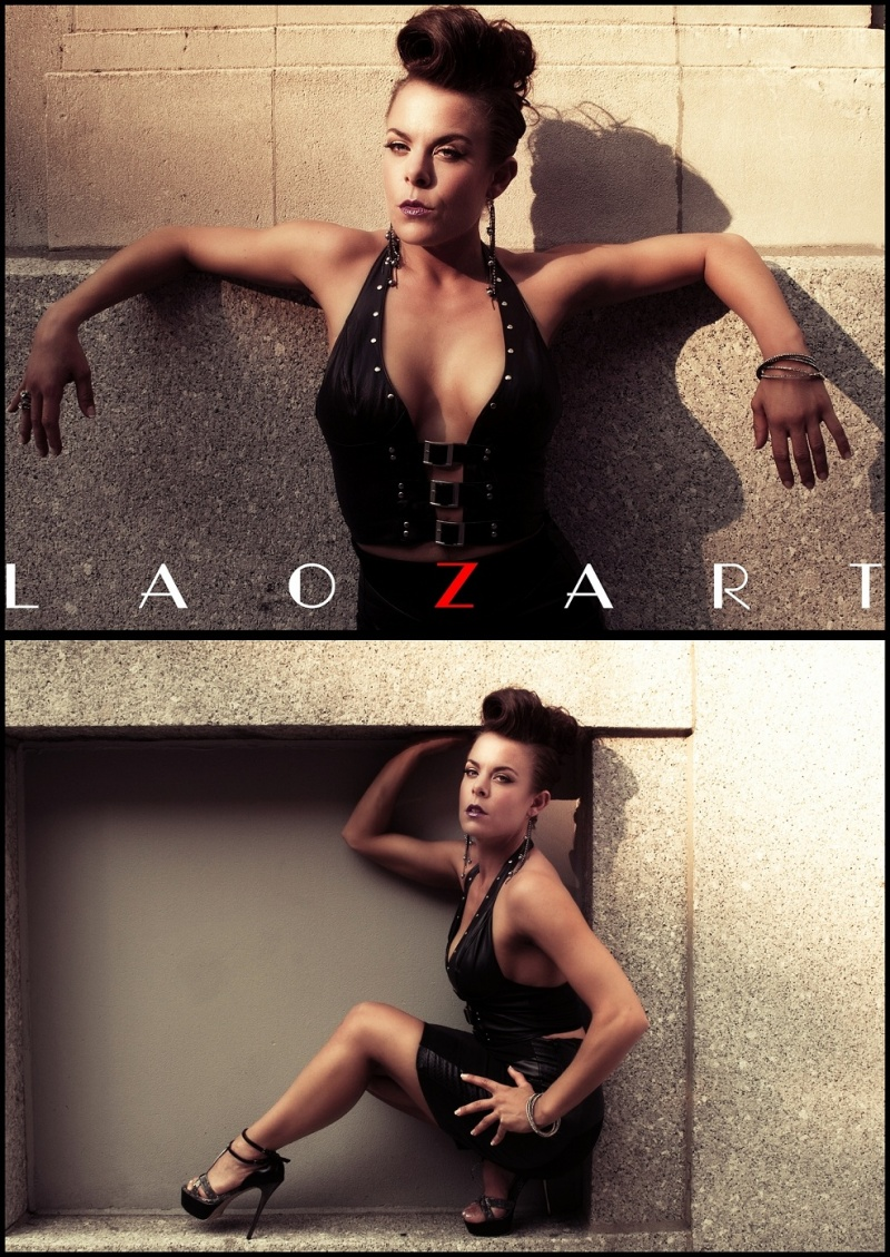 Male and Female model photo shoot of LaoZart and Ceara Blu , hair styled by MJMUA