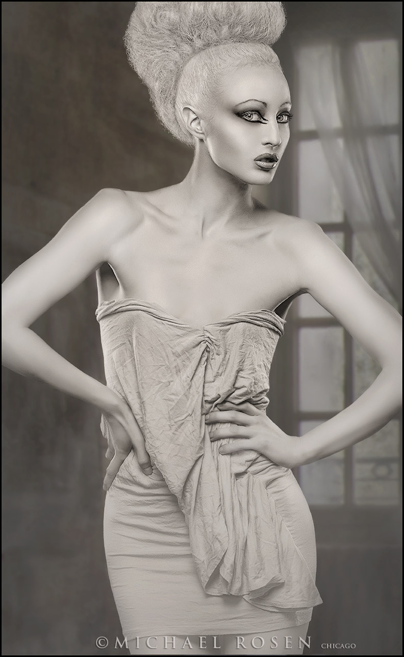 Male and Female model photo shoot of Michael Rosen - Chicago and Laura New in Michael Rosen Studio - Chicago