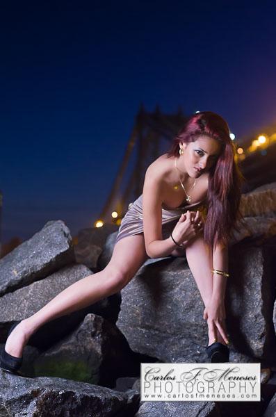 Female model photo shoot of XxchachixX by CarlosFMeneses in Dumbo,Brooklyn