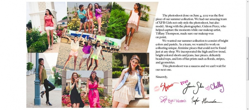 Sep 22, 2012 Tear Sheet from XFB shoot