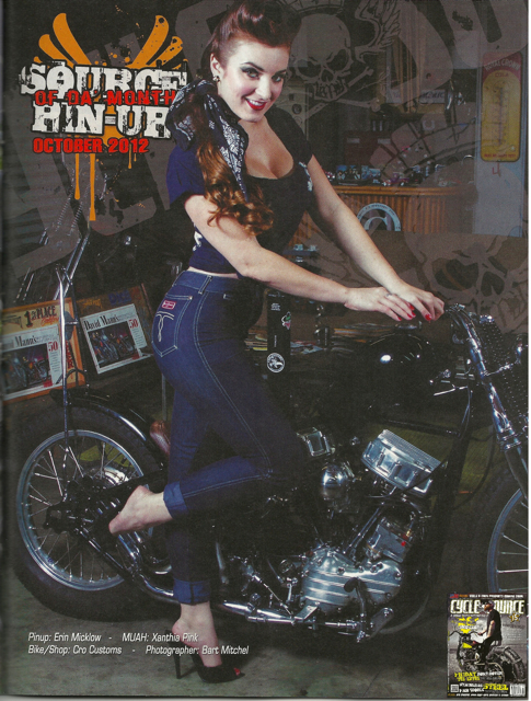 Sep 25, 2012 Cycle Source Magazine Vol 16, Issue 7. Source of Da Month Pin-Up Oct 2012. Photo: Bart Mitchell, Makeup/Hair: Xanthia Pink, Bike/Shop: Cro Customs