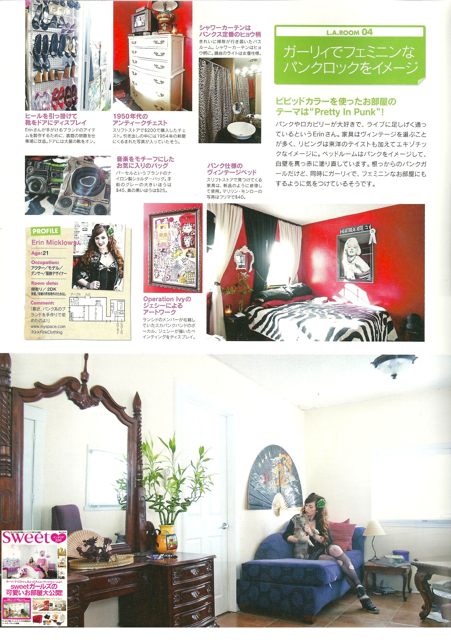 Sep 25, 2012 Sweet Japanese Fashion Magazine featuring me and my Pretty In Punk house
