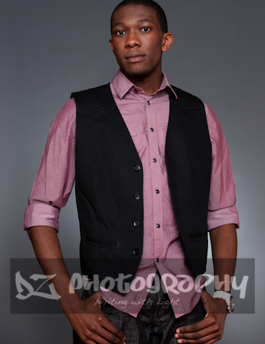 Male model photo shoot of DZ Photography  in Studio DZ