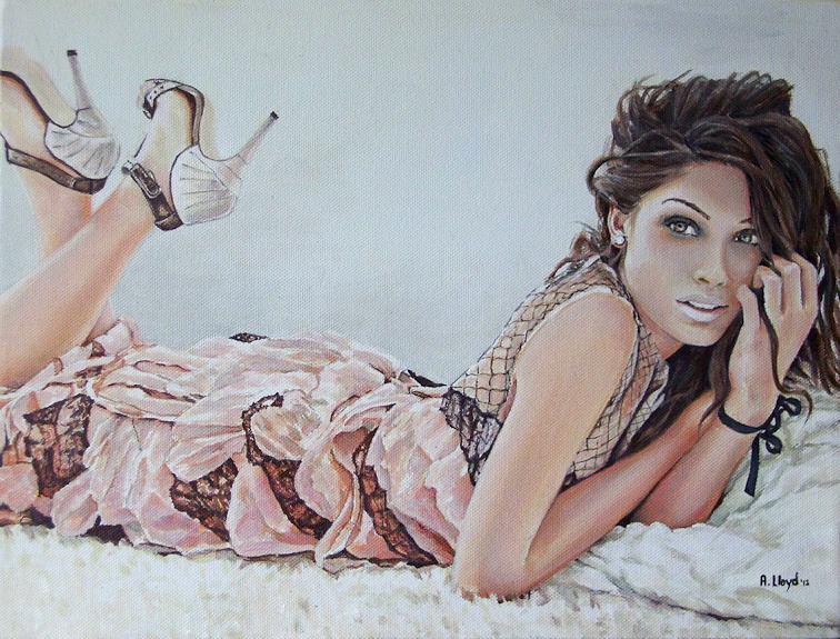 painted in England, acrylic on canvas Sep 28, 2012 Andy Lloyd Freida Pinto