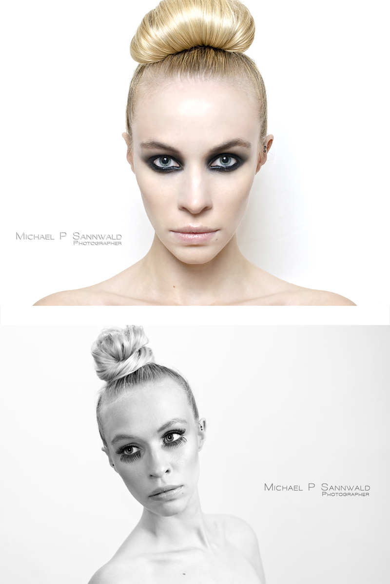 Male and Female model photo shoot of Michael P Sannwald and LMBL by Michael P Sannwald, makeup by Hannahxmuax