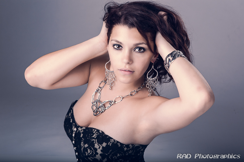 Female model photo shoot of Amber Zimmer by RAD Photographics