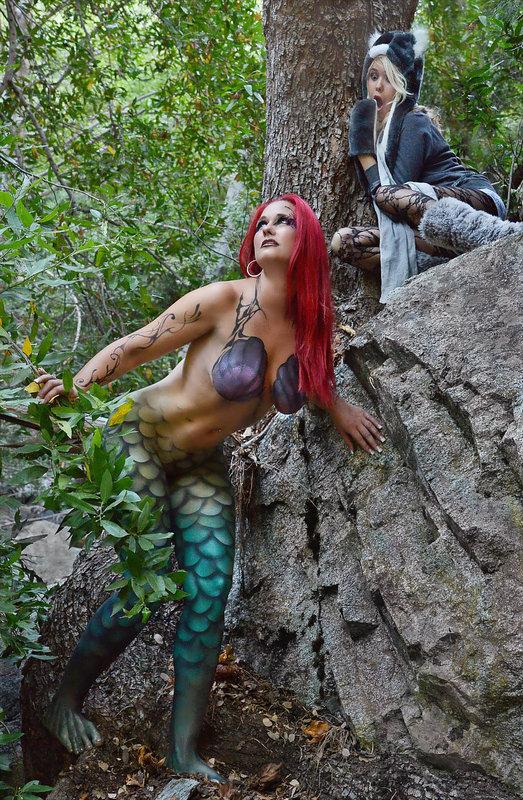 Mt. Baldy Oct 05, 2012 Gary - Select Models & Pashur - Make Up Artist Mermaid Caught