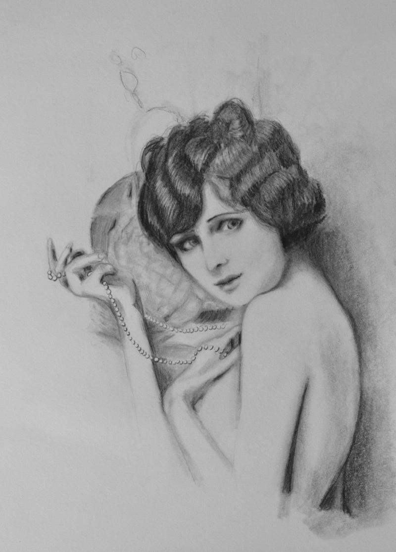 Female model photo shoot of Vintage Noir Art