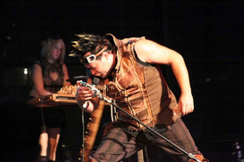 Steamstock, Richmond, Ca. Oct 10, 2012 Through A Glass Photo Kristina Erickson and Captain Robert of Abney Park