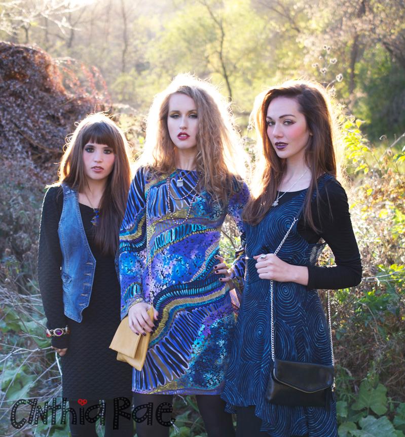 Female model photo shoot of Cynthia Rae, Elle Thomson and Holly H by Sk8ermatt, wardrobe styled by Diana Hannah