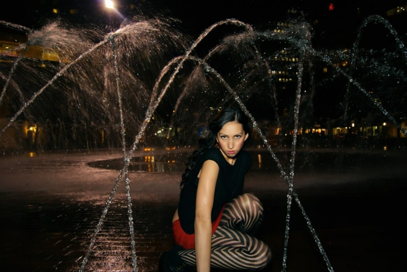 Female model photo shoot of Ashley Gabrielle  in Christian Science Center