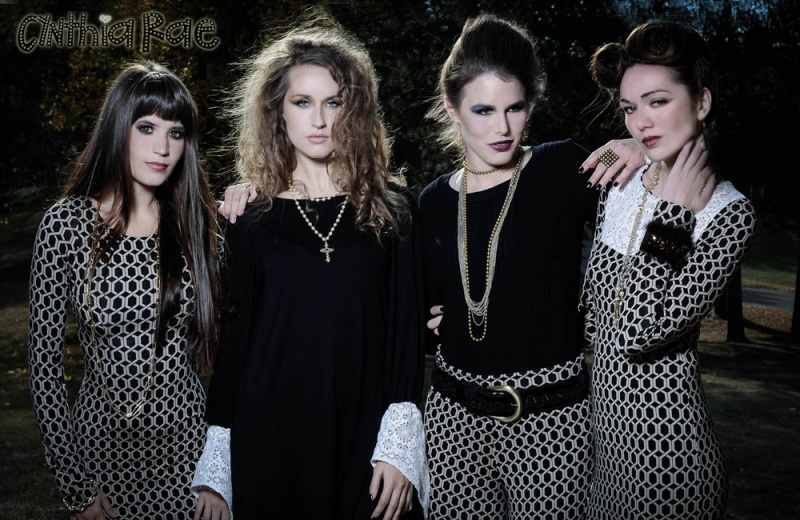 Female model photo shoot of Cynthia Rae, Amy Lateralus, Elle Thomson and Holly H by MR Foto, wardrobe styled by Diana Hannah