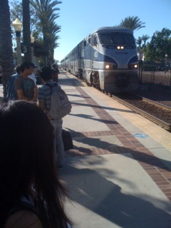 Oct 22, 2012 Train ride to Santa Barbara shoot.