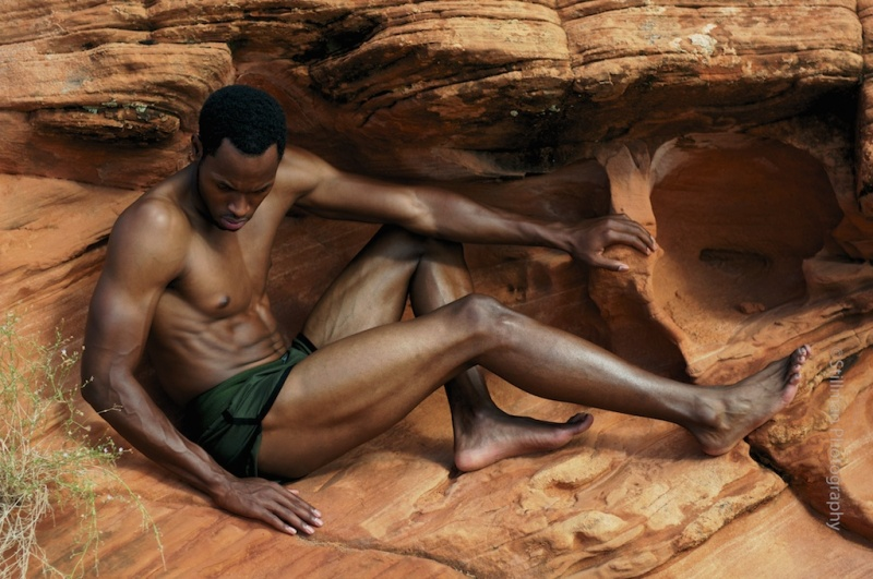 Male model photo shoot of Dwayne Bright by Stillman Photography in Sand Hollow State Park