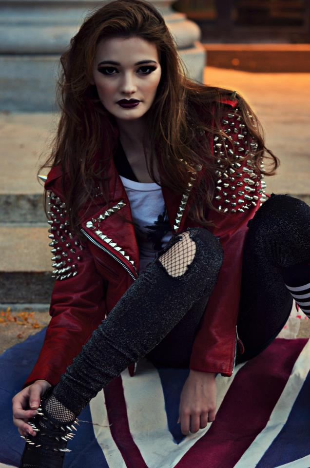 Oct 30, 2012 Chloe Barcelou Photography Red Leather Jacket