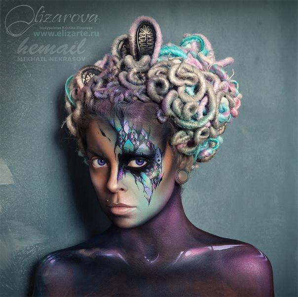 Moscow Nov 04, 2012 Face art