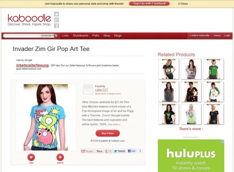 Nov 04, 2012 Shirt originally modeled for HotTopic.com on Kaboodle.com