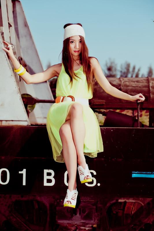 Female model photo shoot of Vvienna in Bangkok, Thailand