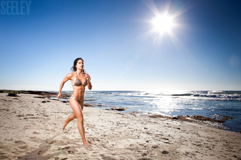 La Jolla, CA Nov 10, 2012 Gold bikini with Brett Seeley