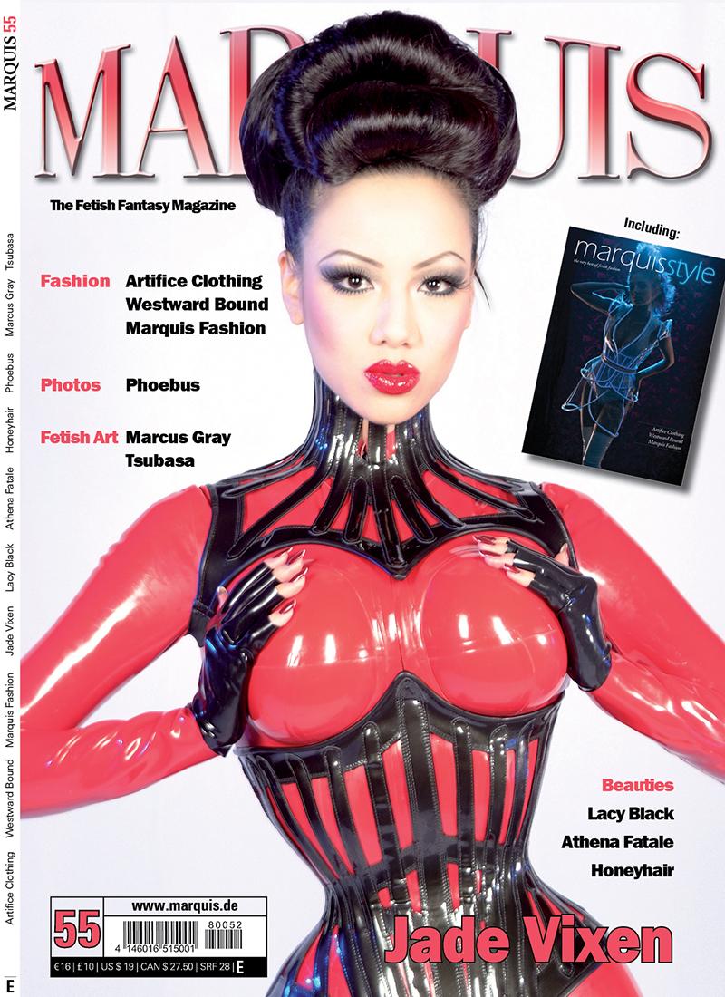 Marquis Fetish Magazine, Solingen, Germany Nov 12, 2012 www.marquis.de & www.jadevixen.com Cover of Marquis #55!