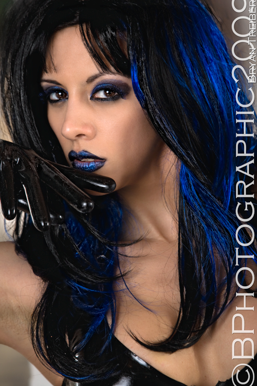 mua dawn marie.. its a wig... Nov 12, 2012 b photographic kerri taylor latex and blue wig