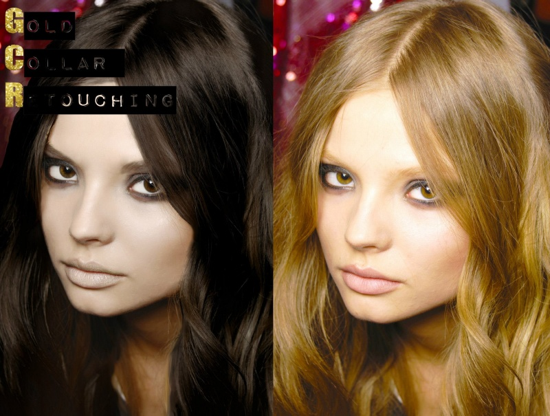 Female model photo shoot of Gold Collar Retouching