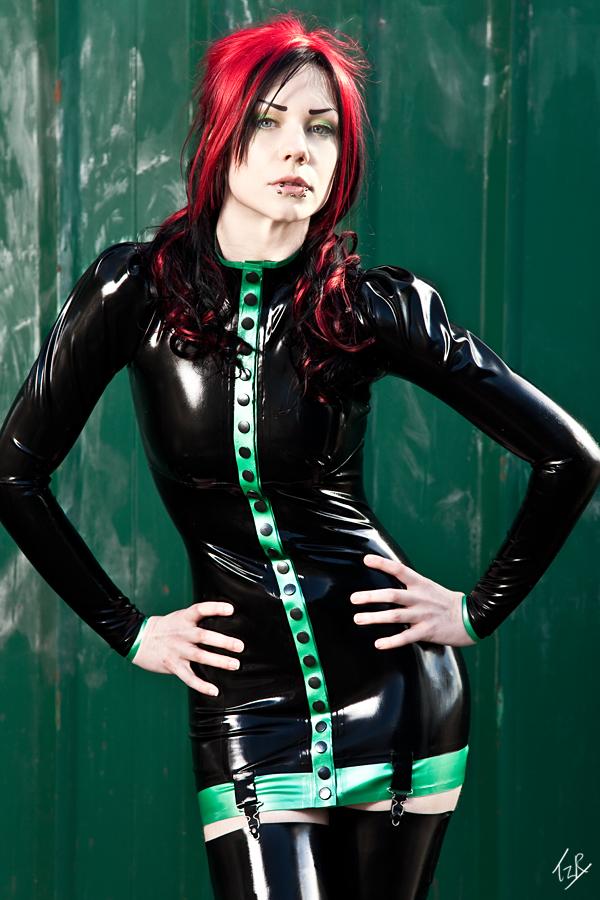 Female model photo shoot of Maebelle Latex