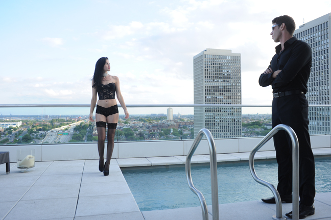 Male model photo shoot of Pete Checchia Photography in Penthouse Apartment Swinning Pool