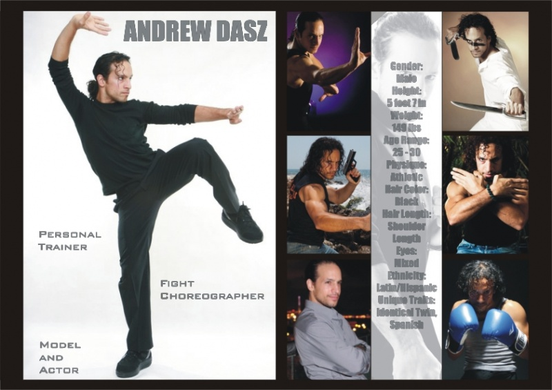 CHINA, SPAIN, HONG KONG, USA Nov 24, 2012 ANDREW DASZ FIGHT CHOREOGRAPHER, ACTOR & MODEL