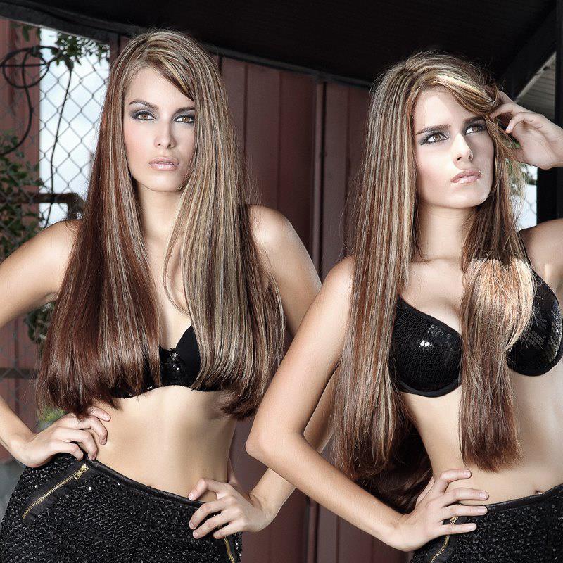 Female model photo shoot of twins melanieandmilena