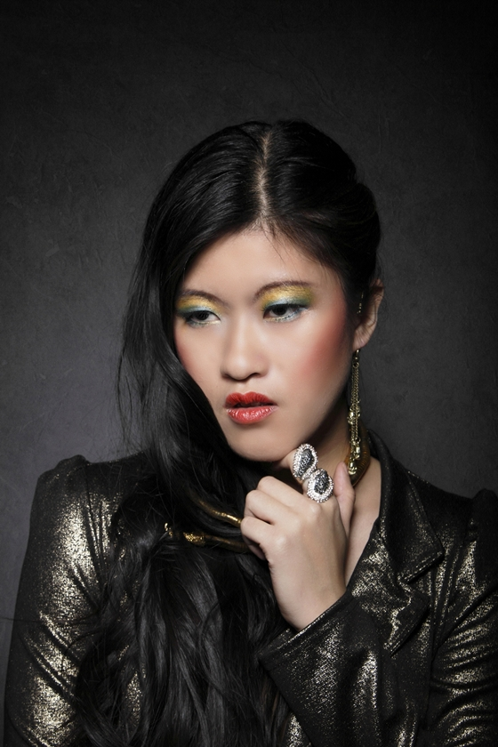 Female model photo shoot of Winnie L by Aylwin Lek Photography, makeup by Welna Make Up Artist