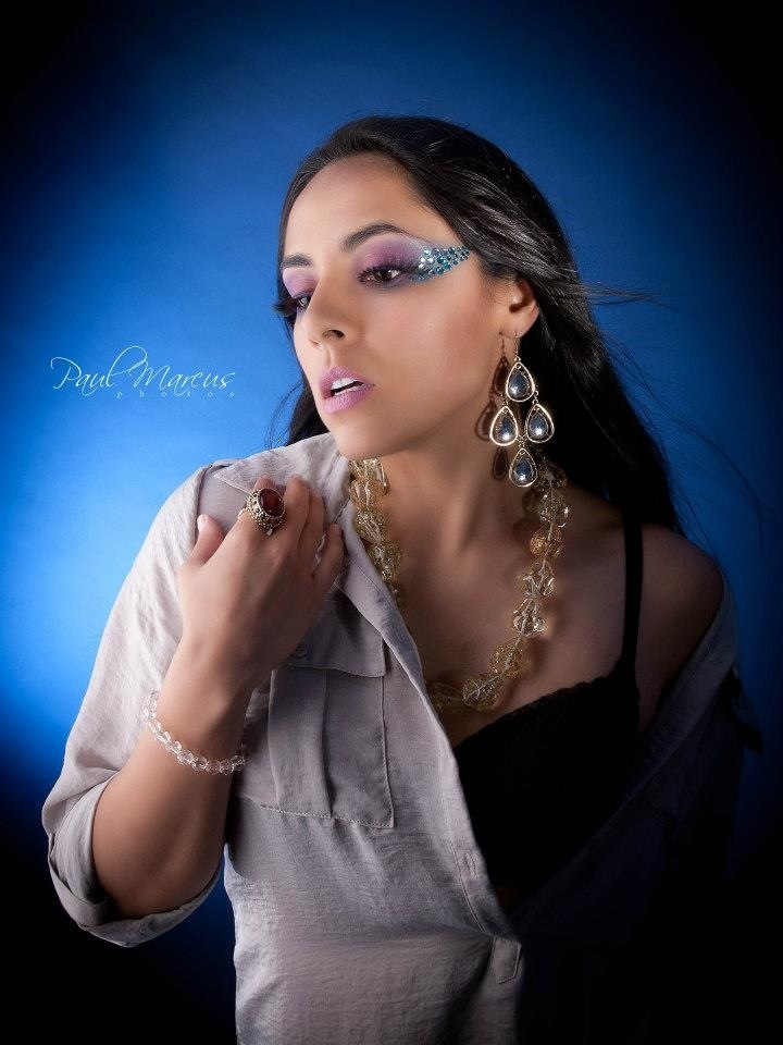 Female model photo shoot of Emily Fox Makeup and Marilyn B by Paul Marcus Photos