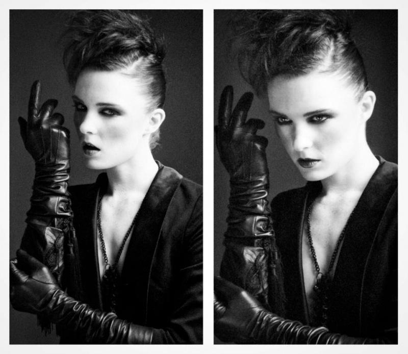 Female model photo shoot of Haute Noir