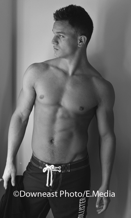 Male model photo shoot of James OH by Downeastphoto in studio