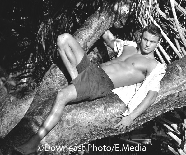 Male model photo shoot of James OH by Downeastphoto in banyon tree