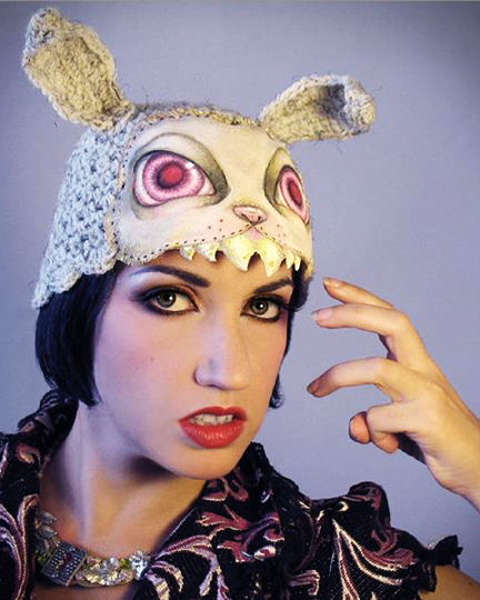 Dec 20, 2012 Horribly Eclectic One of a kind hand painted Killer Bunny hat