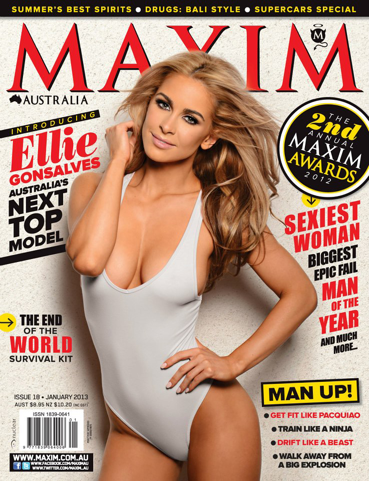 Dec 22, 2012 January 2013 Maxim Australia cover