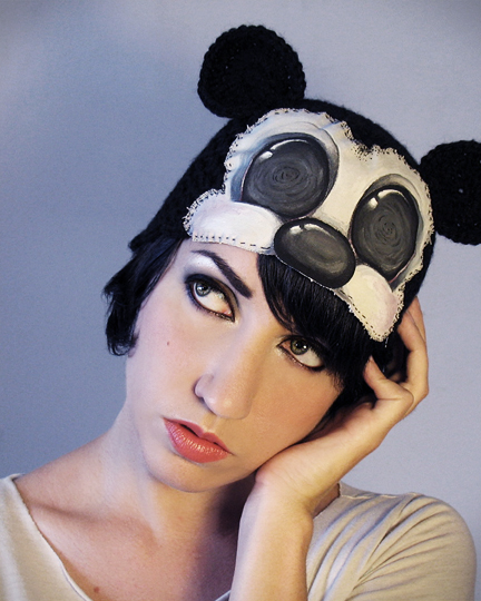 Dec 24, 2012 Horribly Eclectic Hypno Mouse hand painted art hat