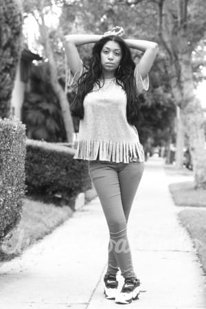 LA Dec 25, 2012 My Hair modeling shoot