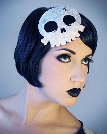 Dec 28, 2012 Horribly Eclectic Sparkle Skull fascinator headband