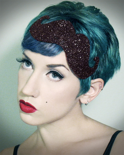 Dec 29, 2012 Horribly Eclectic Mustachioed fascinator headband