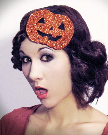 Dec 29, 2012 Horribly Eclectic Halloween Pumpkin fascinator headband