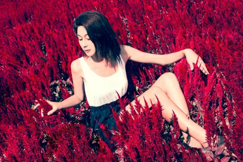 Female model photo shoot of Kalina Katariya by swankymusings in Royal Flora - Chiang Mai, Thailand