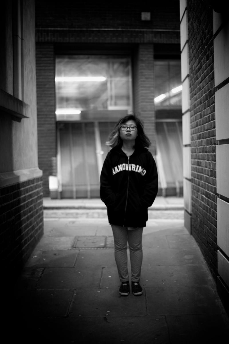 London, UK Jan 03, 2013 Outdoor shoot at cannon street