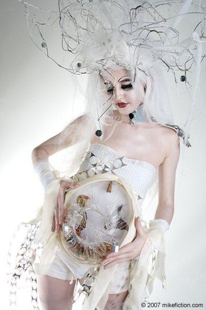 Columbus, Ohio Jan 09, 2013 Designer: Jody Krevens * Photographer: Mike Fiction * Model: Christine Tarrant *ALIVE* butterfly pregnant dress/hair/MUA designed by: Jody Krevens