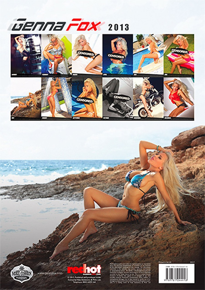 Jan 10, 2013 Genna Fox Official 2013 Calendar