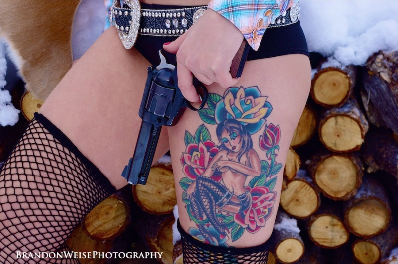 Nevada Jan 11, 2013 Brandon Weise Photography Tattoos, Guns and Glitter!