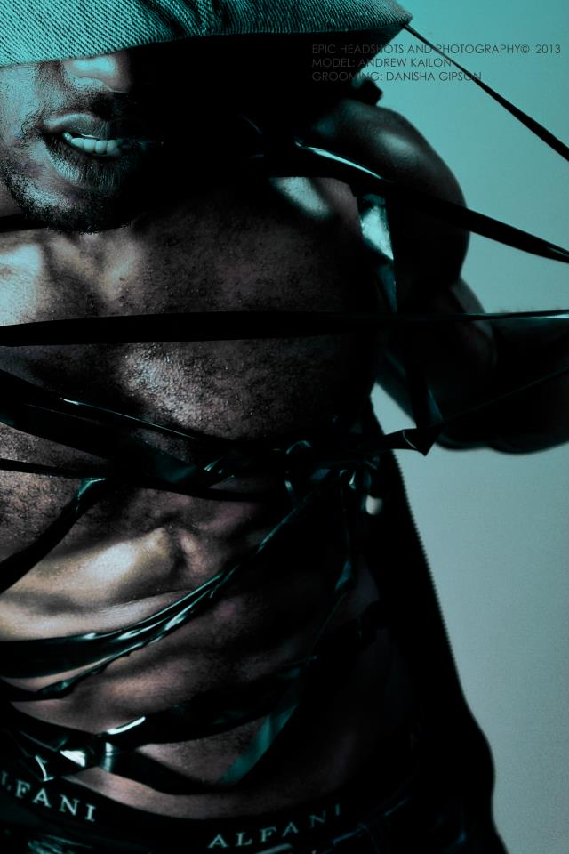 Male model photo shoot of Andrew Kailon in Visual Blaze Studio, makeup by DanishaGipson