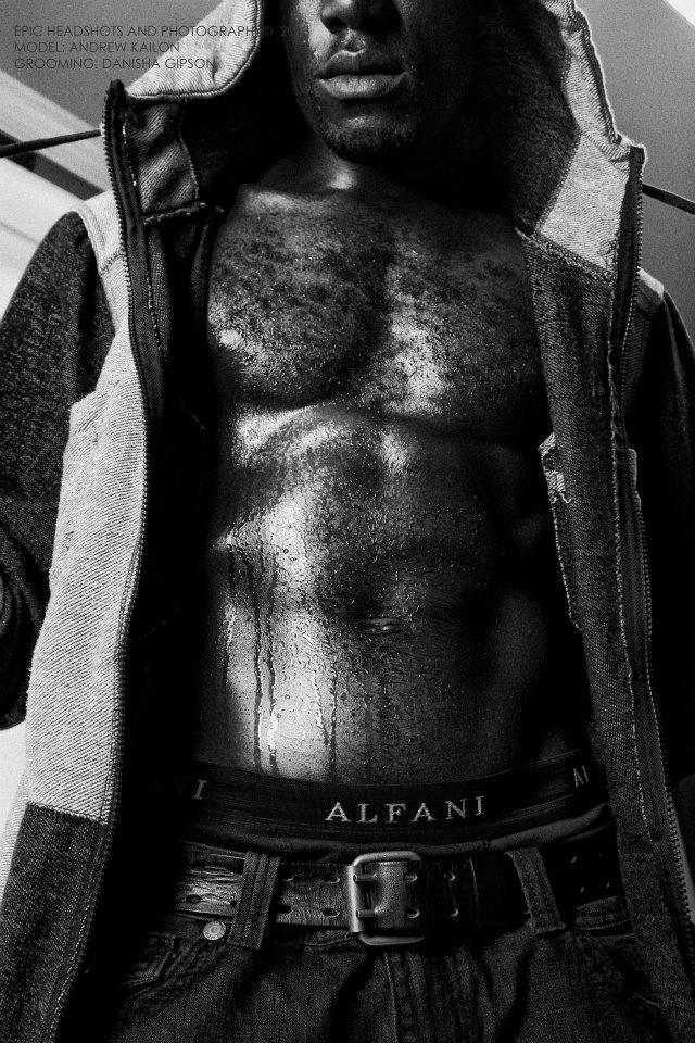 Male model photo shoot of Andrew Kailon in Visual Blaze Studios, makeup by DanishaGipson
