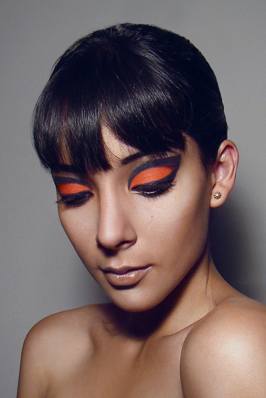 Jan 23, 2013 Valeria Figallo Orange makeup
